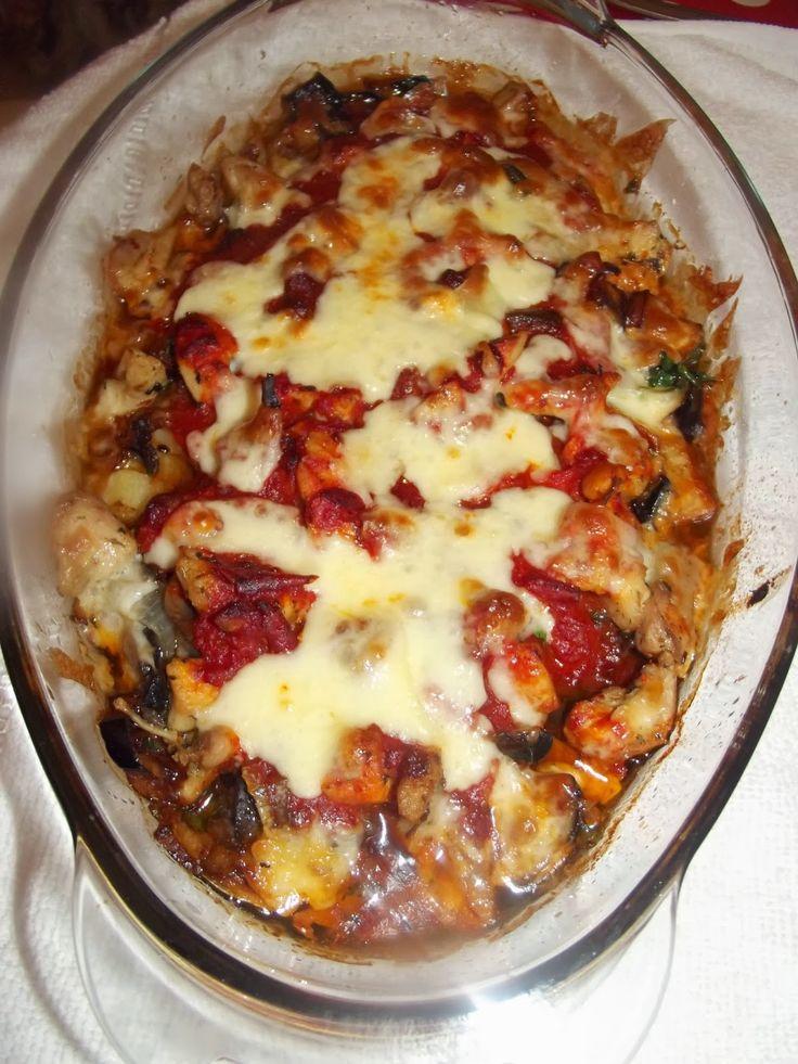 TUĞBA'NIN ELİNDEN: Fırında tavuklu mantarlı patlıcan yemeği