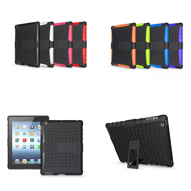 Wholesale HH Luxury For ipad 2 3 4 Cover Heavy Duty TPU Hard PC Case Shockproof Non Slip Stand For Apple Ipad2 ipad3 ipad4 #Affiliate