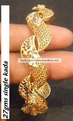 gold designer kada bangle