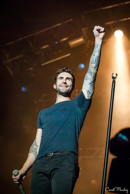 Adam Levine from Maroon 5 @ São Paulo (26/08/12) by Carol Munhoz, via Flickr
