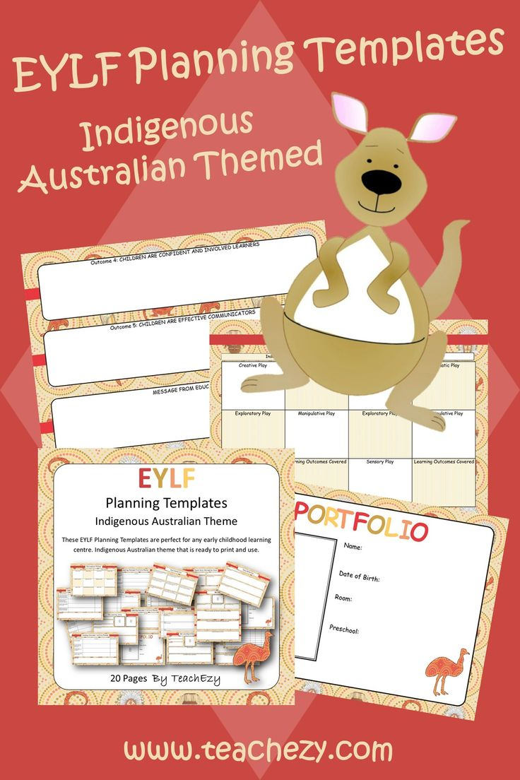 EYLF planning templates with an Indigenous Australia theme.