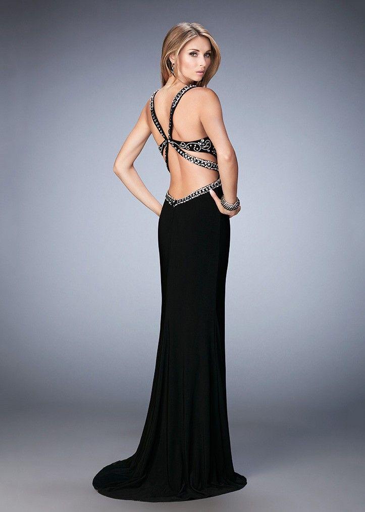 Gigi 22888 V-Neck Beaded Jersey Prom Dress
