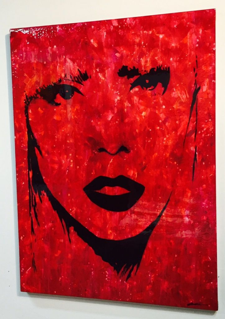 Red Lady Abstract Artwork