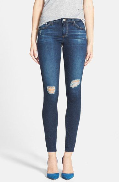 AG 'The Legging' Ankle Jeans (4 Year Fog) available at #Nordstrom