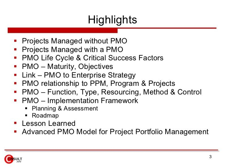 Project Management Office Success Factors