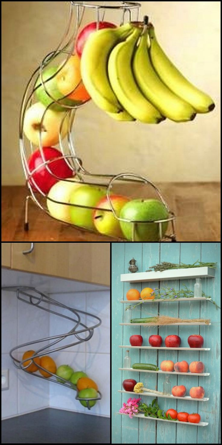 Are you looking for a better storage solution for your fruits? This list should help!  http://theownerbuildernetwork.co/easy-diy-projects/diy-storage-projects/diy-kitchen-storage/creative-fruit-storage-ideas/  Some offer space-saving solutions, some offer a stylish way of storing and displaying fruits, and some provide both!  Whatever your requirements are, all these creative storage solutions will keep your fruits fresh as long as possible!