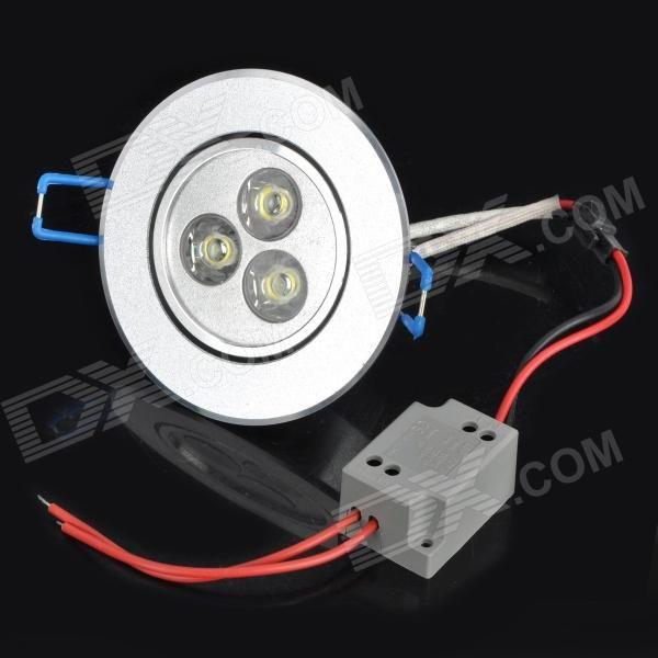 Material:: Aluminum; Emitter Type:: LED; Total Emitters:: 3; Power:: 3 x 1W; Color BIN:: White; Rated Voltage:: 90~265V; Luminous Flux:: 300~330LM; Color Temperature:: 6000~6300K; Cable length:: 32cm; http://j.mp/1q0vliP