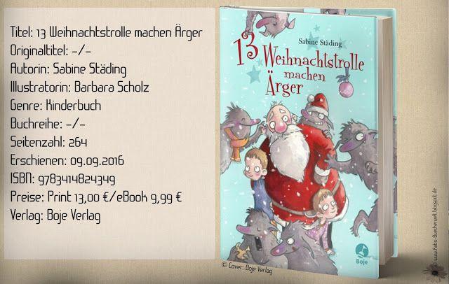 """[#Werbung] Ich habe rezensiert: Die """"13 Weihnachtstrolle machen Ärger"""" von Sabine Städing und Barbara Scholz stimmen mit viel Charme und putzigen Kreaturen in die Vorweihnachtszeit ein. Eine abenteuerliche Geschichte mit Humor für Jung und Alt! ~ literarischer Adventskalender für Kinder ~ liebenswert ~ wunderschön Illustriert   Vollständige Rezension auf: http://www.katis-buecherwelt.de/2018/01/rezension-13-weihnachtstrolle-machen.html"""