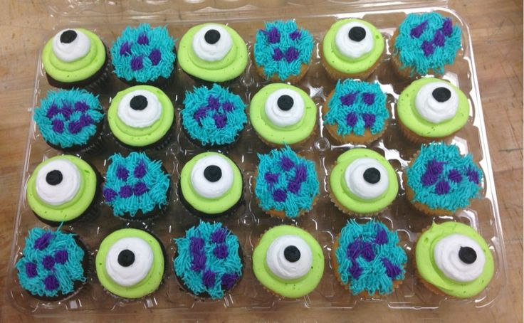 Monsters Inc. Cupcakes! Put that thing in my mouth or so help me!