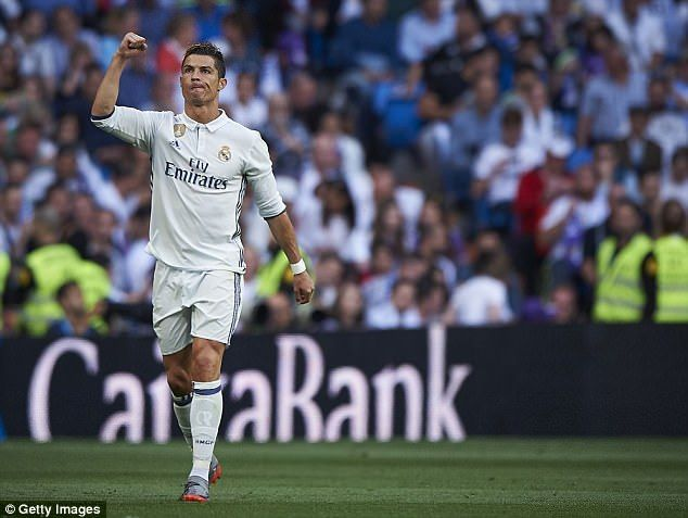 Also in contention for the prize unsurprisingly is Real Madrid star Cristiano Ronaldo