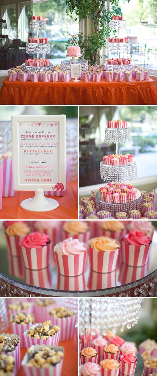 Pink and Orange Carnival Themed Birthday Party