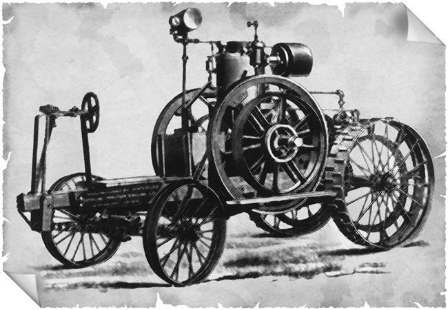 The first gasoline tractor was built by John Froelich , in ...