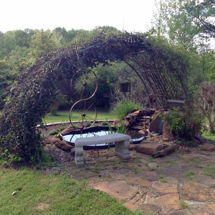 Made from an old trampoline frame
