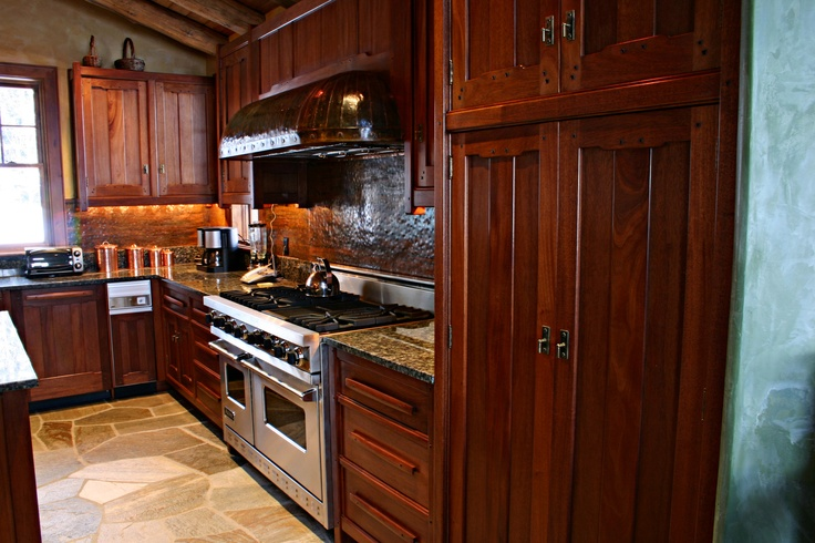 Beautiful Mahogany Ebony Kitchen Design Inspired From American Arts Crafts Movement Revival
