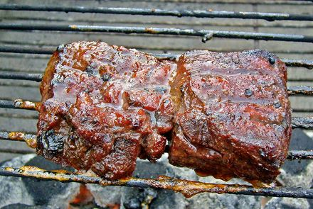 Grilled Apple Cinnamon Marinated Venison Steak-Amazingly delicious.  Marinated for 2 days. I need to try the marinade on beef.