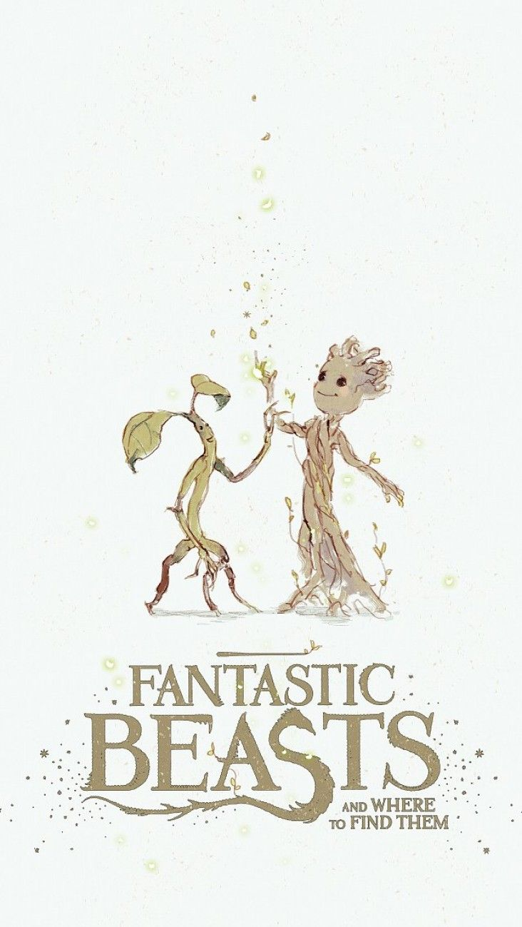 Fanarts et crossover : Les Animaux Fantastiques, Harry Potter, Les Gardiens De La Galaxie