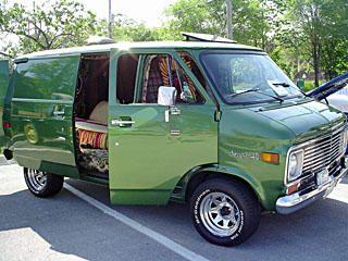 "1975 Chevy Van (rode in van while playing ""Making Love In My Chevy Van"" on the radio)"