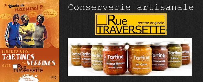 Conserverie artisanale Rue Traversette, crèmes, caviar d'aubergine, moutardes...