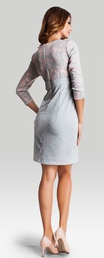 Marshmallow 3D jersey maternity smart dress