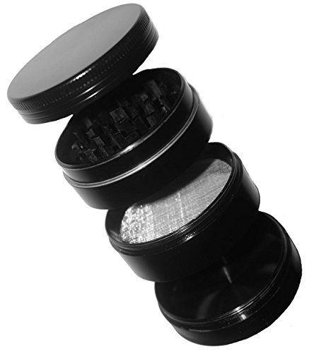 "4 Piece Herb, Tobacco, Spice & Weed Grinder with Pollen Catcher - Premium Grade Aluminium 2"" Wide - Sleek Black Spice Up Your Life http://www.amazon.com/dp/B013CGULKC/ref=cm_sw_r_pi_dp_ZAjvwb1J03B4B"