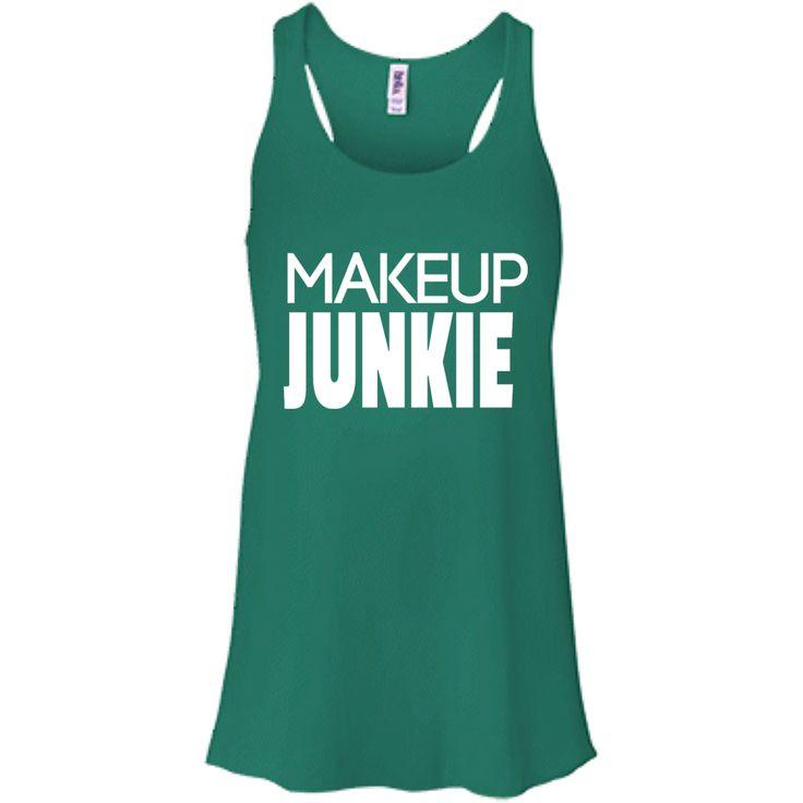 Makeup junkie Bella + Canvas Flowy Racerback Tank