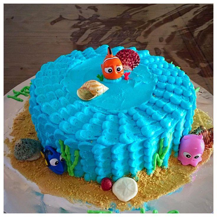 Finding Nemo cake buttercream frosting
