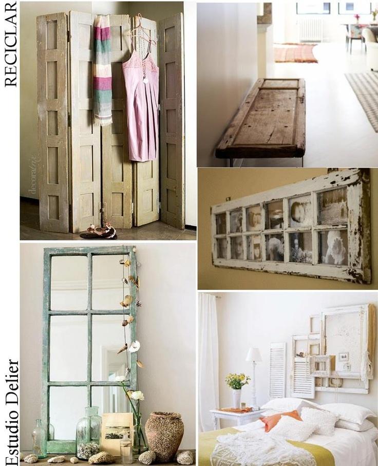 Reciclar puertas viejas decorando pinterest ideas for Reciclar puertas