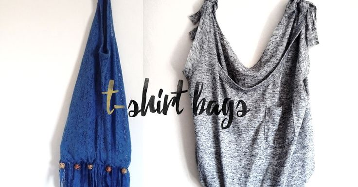 Turn your old t-shirts into new bags using this simple, no-sew technique. Very easy to achieve, and a great way to recycle old clothes! Give it a try :)