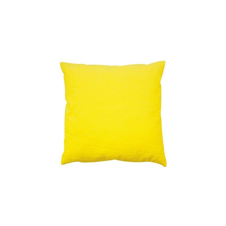 Coussin velours carré zip m jaune