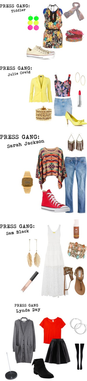 """""""Press Gang"""" by bethamphetamine ❤ liked on Polyvore"""
