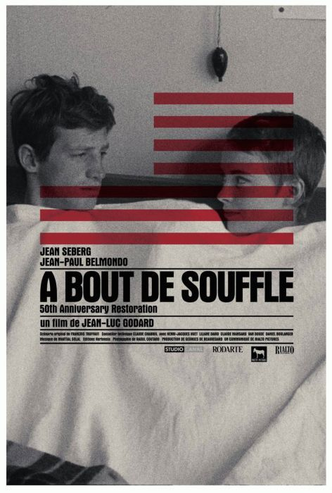 À Bout de Souffle (1960) France Director: Jean-Luc Godard Writers: Jean-Luc Godard, François Truffaut Cinematographer: Raoul Coutard Cast: Jean-Paul Belmondo, Jean Seberg