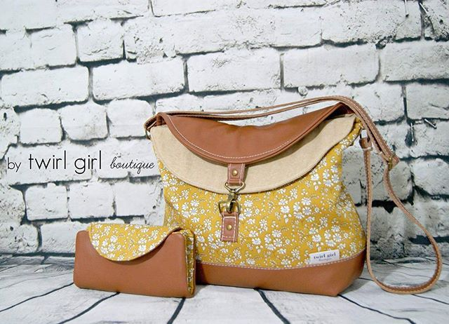 Liberty Mustad Capel G floral... 💛... so pretty as the Hippo Hobo Bag, created with Made in Italy Tan Leather & Essex Linen in Sand... Complete with a 16 card slot Fiona Wallet... Enjoy Melissa ooxx . #twirlgirlboutique #twirlgirlboutiquecustomorder #lib
