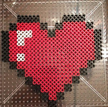 Legend of Zelda- Life Heart Perler Bead Pattern