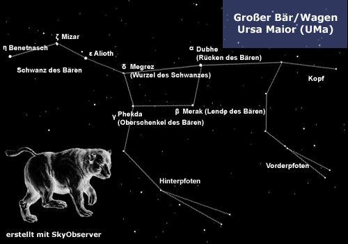 Sternbild Großer Wagen / Bären