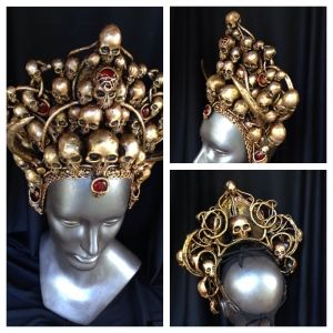 Crown of golden skulls, commission for a #bellydancer
