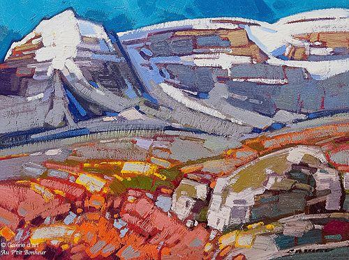 Cameron Bird, 'Wildflowers in Wilcox Pass, Icefields Parkway', 12'' x 16'' | Galerie d'art - Au P'tit Bonheur - Art Gallery