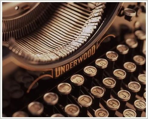 Sepia-tone photo of vintage typewriter #typewriter