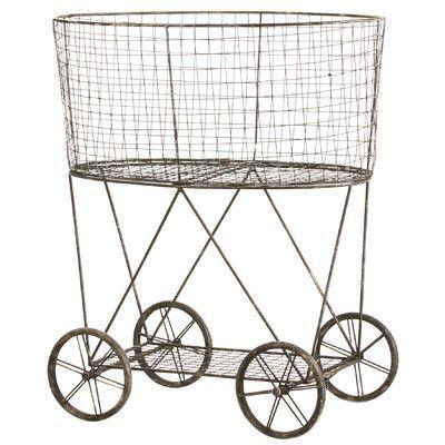 Cape Craftsmen Metal Wire Basket on Wheels