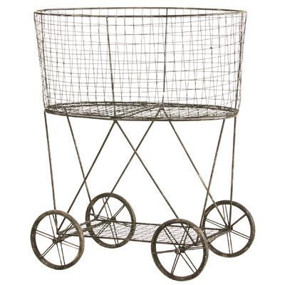 You'll love the Casual Country Metal Vintage Laundry Basket with Wheels at Wayfair - Great Deals on all Furniture products with Free Shipping on most stuff, even the big stuff.