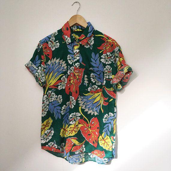 Vintage Print Shirt 90s Shirt Mens Shirt Retro Print Shirt Etsy 90s Shirts Mens Mens Vintage Shirts Mens Shirts