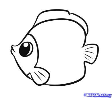 Simple drawings of fish - photo#8