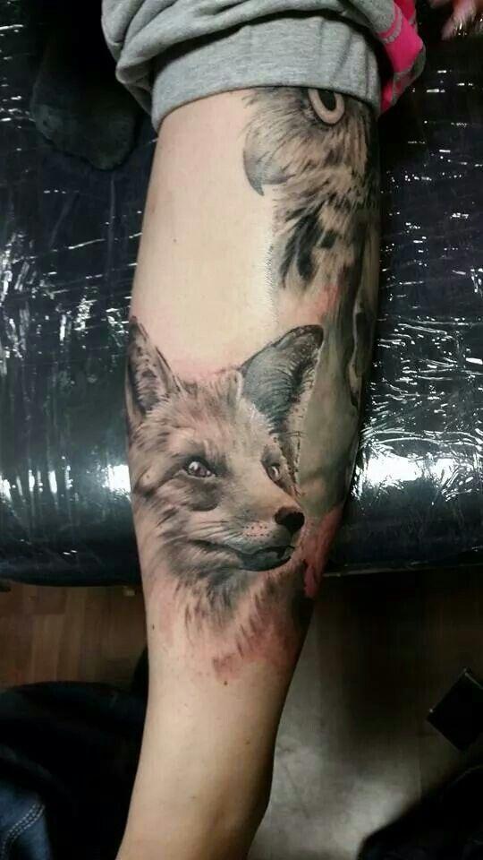 In progress  #risoxtattoo #xtattoo #xtattoostudio #ink #tattoo #tattoos #animal #animaltattoo #girlstattoo #fusionink #fox #foxtattoo