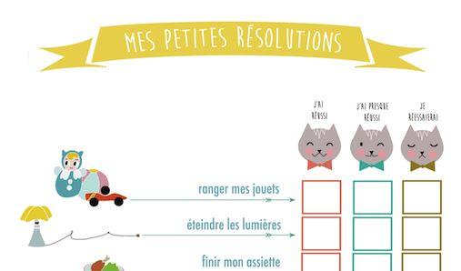 Pour leur donner un coup de pouce dans les petites choses du quotidien, voici un tableau à cocher selon les résolutions qu'ils souhaitent adopter! A réaliser en fin de semaine ou en fin de journée… Avant de recommencer! Cliquez là!