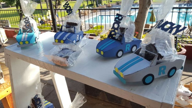 Car Themed Baby Shower favors, cars, candy bar, boy favors