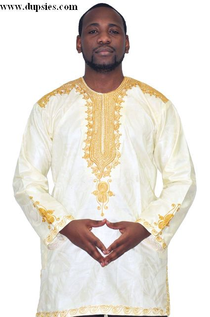 b9fdd206572b Off White and Gold African New Look Contemporary Brocade Shirt-D | Home  ideas | African men fashion, African attire for men, African men