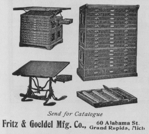 Fritz U0026 Goedel Mfg. Co., Grand Rapids, Michigan Manufacturers Of Draughting  Tables