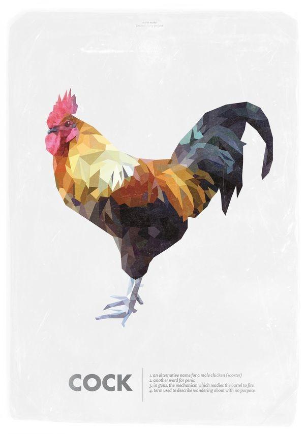 조각조각 다른색으로 짜맞춰진 닭 일러스트 느낌이 좋음. 내가 지향하는 디자인과 비슷