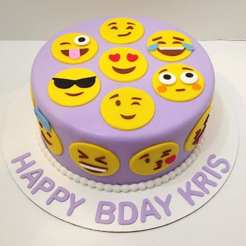 Purple emoji cake for Kris! Happy birthday! Thanks @aprild2c !