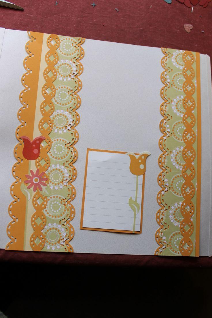 Scrapbook ideas creative memories - Cabana Paper With Spring Stickers Creative Memories Border Maker System Border Ideas