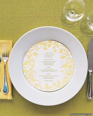 Round menu cards